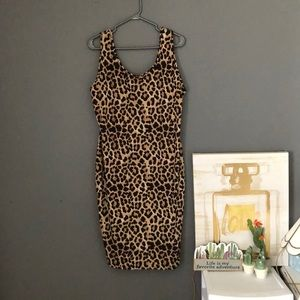 Leopard print dress (2x)